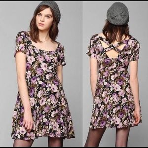 Kimchi blue floral purple dress urban outfitters
